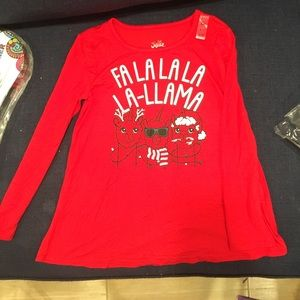 NWT Girls Justice Holiday shirt